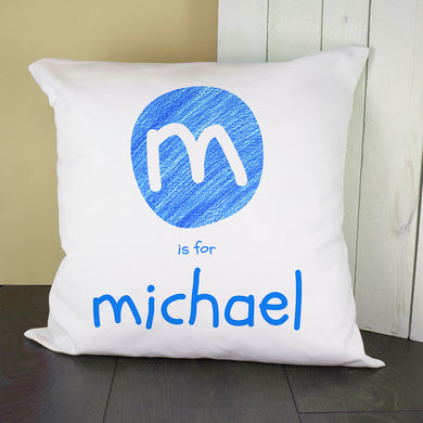 Blue Initial Cushion Cover