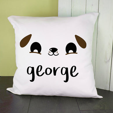 Cute Puppy Eyes Cushion Cover