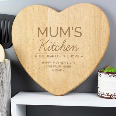 Personalise Heart Chopping Board