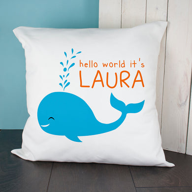Hello Whale Cushion Cover