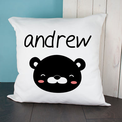 Little Bear Face Cushion Cover