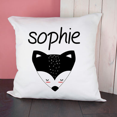 Little Fox Face Cushion Cover