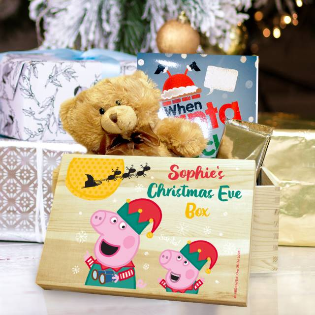 Personalised Peppa Pig and George Pig Christmas Eve Box