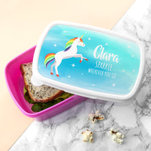 Load image into Gallery viewer, Rainbow Unicorn Lunch Box