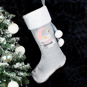 Swan Lake Luxury Silver Grey Stocking