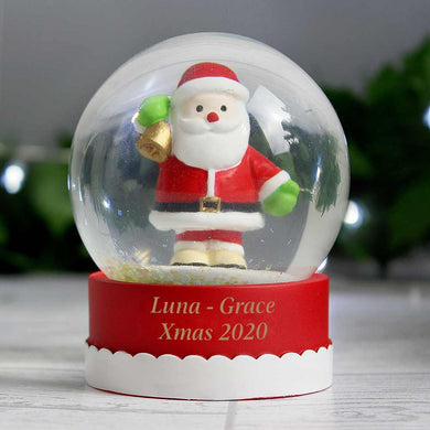 Santa Snowglobe with Message