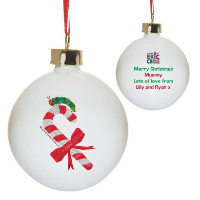 Very Hungry Caterpillar Candy Cane Bone China Bauble