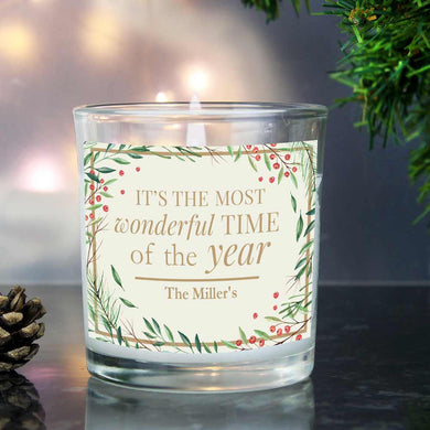Most Wonderful Time of the Year Scented Jar Candle