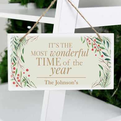 Wonderful Time of the Year Wooden Sign