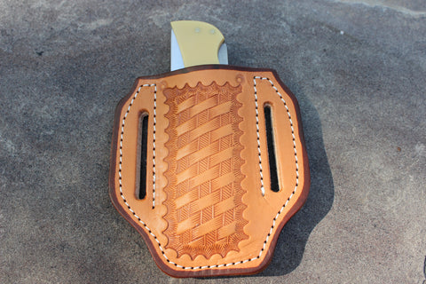 Large Pancake style Basket Stamp Sheath (27124)
