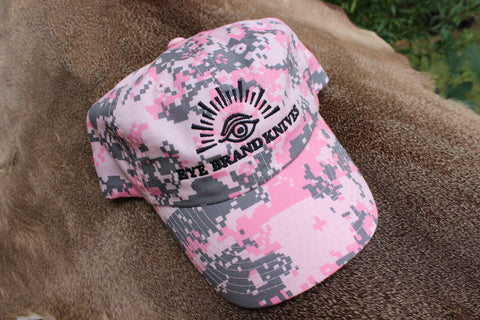 Pink Digital Camo hat with Eye Brand logo