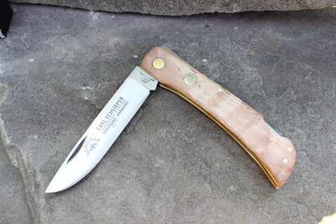 Carl Schlieper 99L Eyebrand lockback with Maple