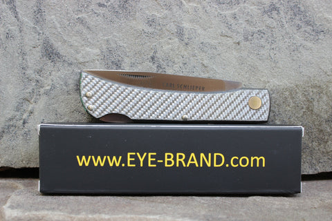**Discounted** Eye Brand 99 Lockback Silver Carbon Fiber 99CFL-s