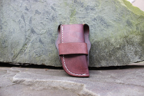 Large Old Western vertical Sheath Tanned (27130-OS T)