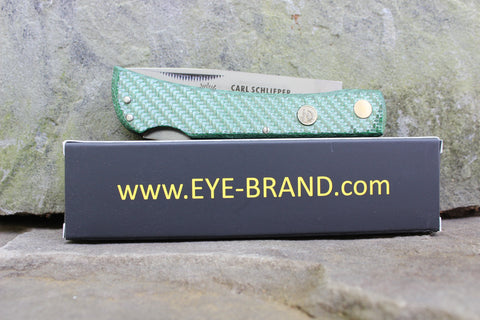 **Discounted** Eye Brand Carl Schlieper 99 Lockback Green Carbon Fiber 99CFL-green