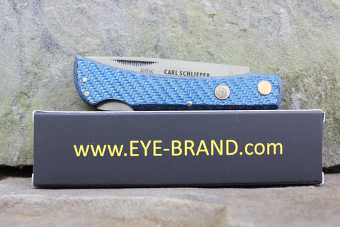 **Discounted** Eye Brand Carl Schlieper 99 Lockback Blue Carbon Fiber 99CFL-blue