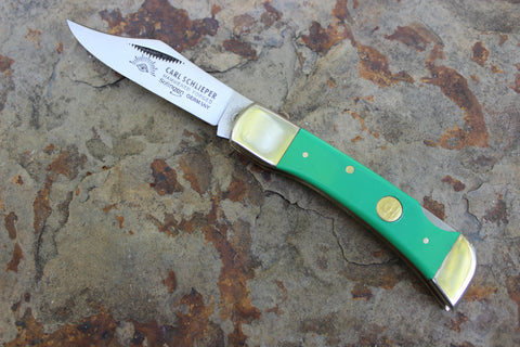 Eye Brand  Clodbuster Junior Lockback 99jrPLL-g db Green Handles Double Bolster
