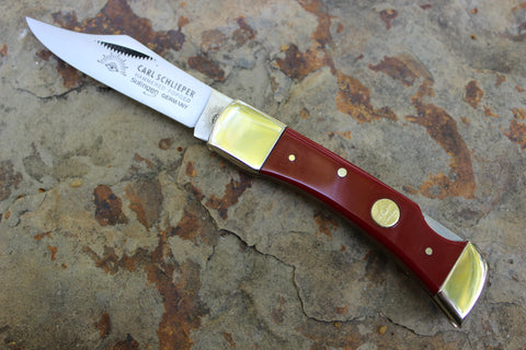 Eye Brand  Clodbuster Junior Lockback 99jrPLL-r db Red Handles Double Bolster