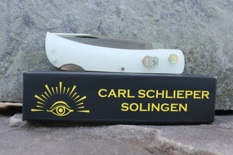 "Special Edition Eye Brand Carl Schlieper 99 Lockback Kirinite ""Starlight Blue"" glow-in-the-dark handles Special Edition"
