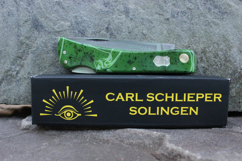 "Eye Brand Carl Schlieper 99 Lockback Kirinite ""Pepper Jade"" handles Special Edition"