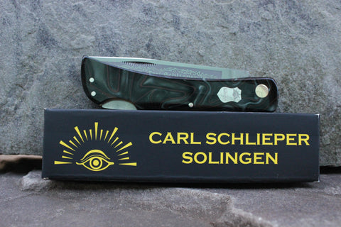 "Eye Brand Carl Schlieper 99 Lockback Kirinite ""Jungle Camo"" handles Special Edition"