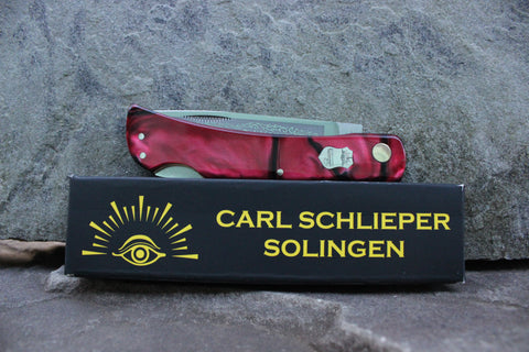 "Eye Brand Carl Schlieper 99 Lockback Kirinite ""Ruby"" handles Special Edition"