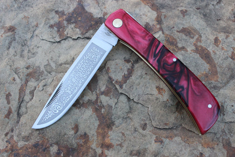 "Eye Brand Clodbuster model 99 Kirinite ""Ruby"" handles Special Edition"