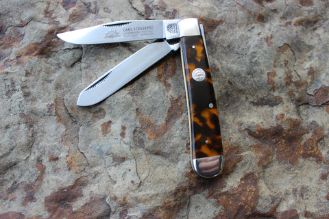 Eye Brand Large Trapper J Kirinite Tortoise handles