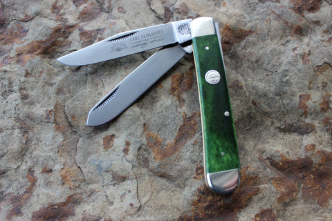 Eye Brand Large Trapper Jg Green Bone smooth