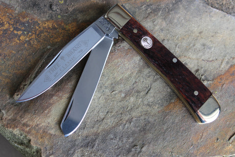 "Böker Tree Brand ""Buckskin"" Smooth Brown Bone Trapper (BK2525BK)"