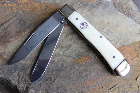 Böker Tree Brand Smooth White Bone Trapper (BK2525SWB)
