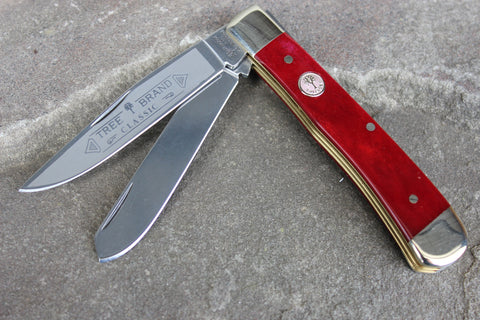Böker Tree Brand Smooth Red Bone Trapper (BK2525SRB)