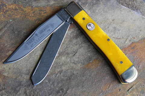 Böker Tree Brand Yellow Smooth Bone Trapper (BK2525YB)