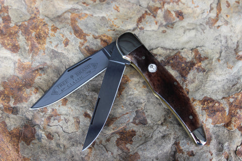 "Böker Folding Hunter with smooth ""Apaloosa"" Bone handles (BK2020BK)"