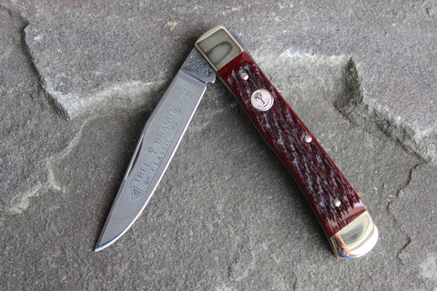 Böker Tree Brand Jigged Red Bone Single-Blade Trapper (BK2526JRB)