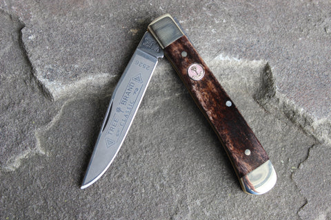 "Böker Tree Brand ""Buckskin"" Bone Single-Blade Trapper (BK2526BK)"