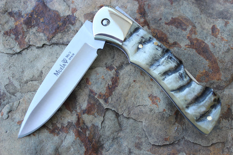 Muela Lockback Hunting Folder Ram's Horn handle MUBX8CA