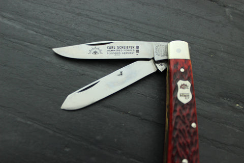 Vintage Mini Trapper Pattern with Red Pick Bone Handles (Baby J)