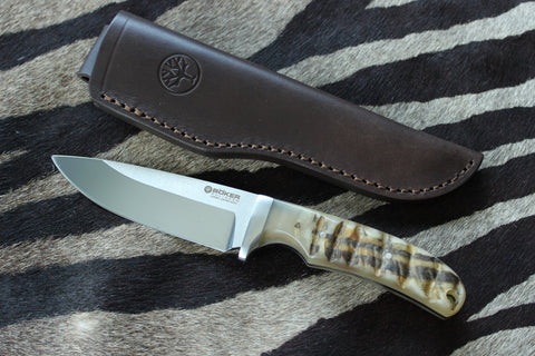Böker Savannah Fixed Blade Ram Horn Hunting Knife (120720)