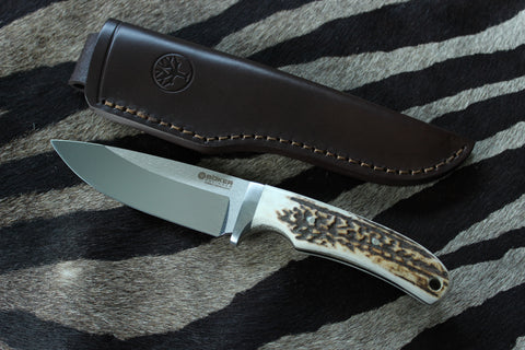 Böker Arbolito Fixed Blade Stag Hunting Knife (02BA545HH)