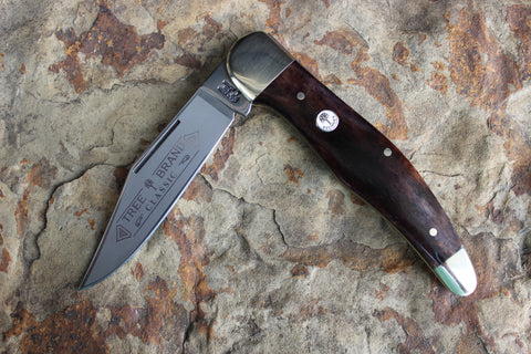 Böker Large Single Blade Hunter with Buckskin Bone handles  (BK1010BK)