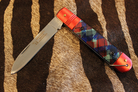 Okapi Tartan Red Folding Barlow 1978/8