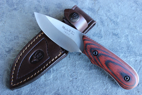 Muela Caper with Coral Pakkawood Handle (MUIBEX8R)