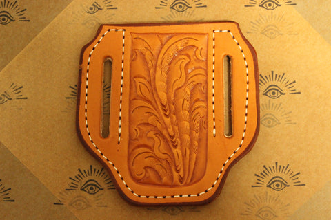 Large Pancake style Tooled Sheath (27124T)