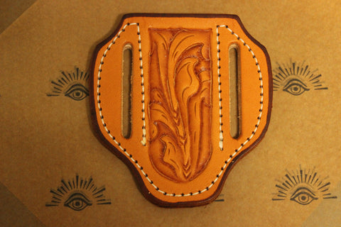 Small Pancake style Tooled Sheath (17124T)