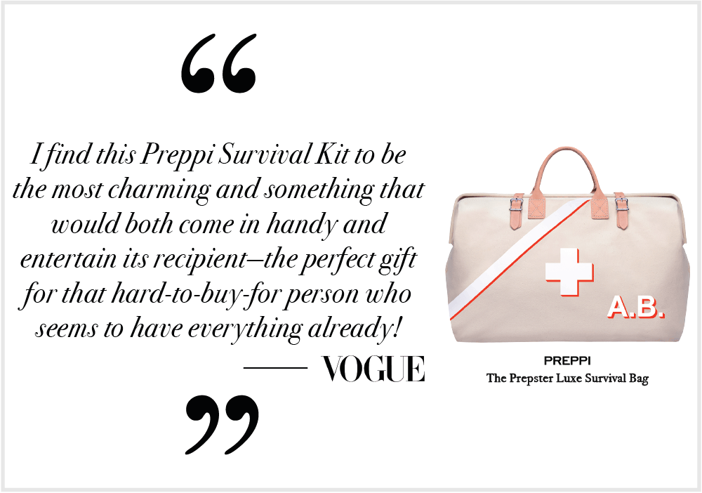 Vogue Preppi Prepster Quote - Emergency Bag