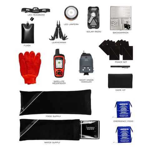 Prepster Black Emergency Supplies