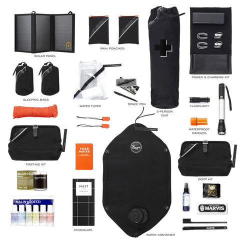 Prepster Black Emergency Earthquake Hurricane Survival Kit Contents
