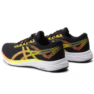 ASICS GEL-EXCITE 6 RUNNING SHOES FOR MEN BLACK SHOCKING ORANGE