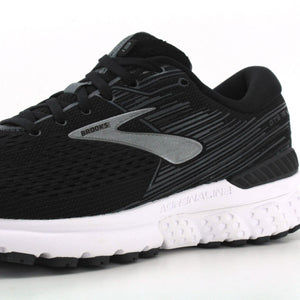 BROOKS ADRENALINE GTS 19 RUNNING SHOES FOR MEN Black Ebony Silver